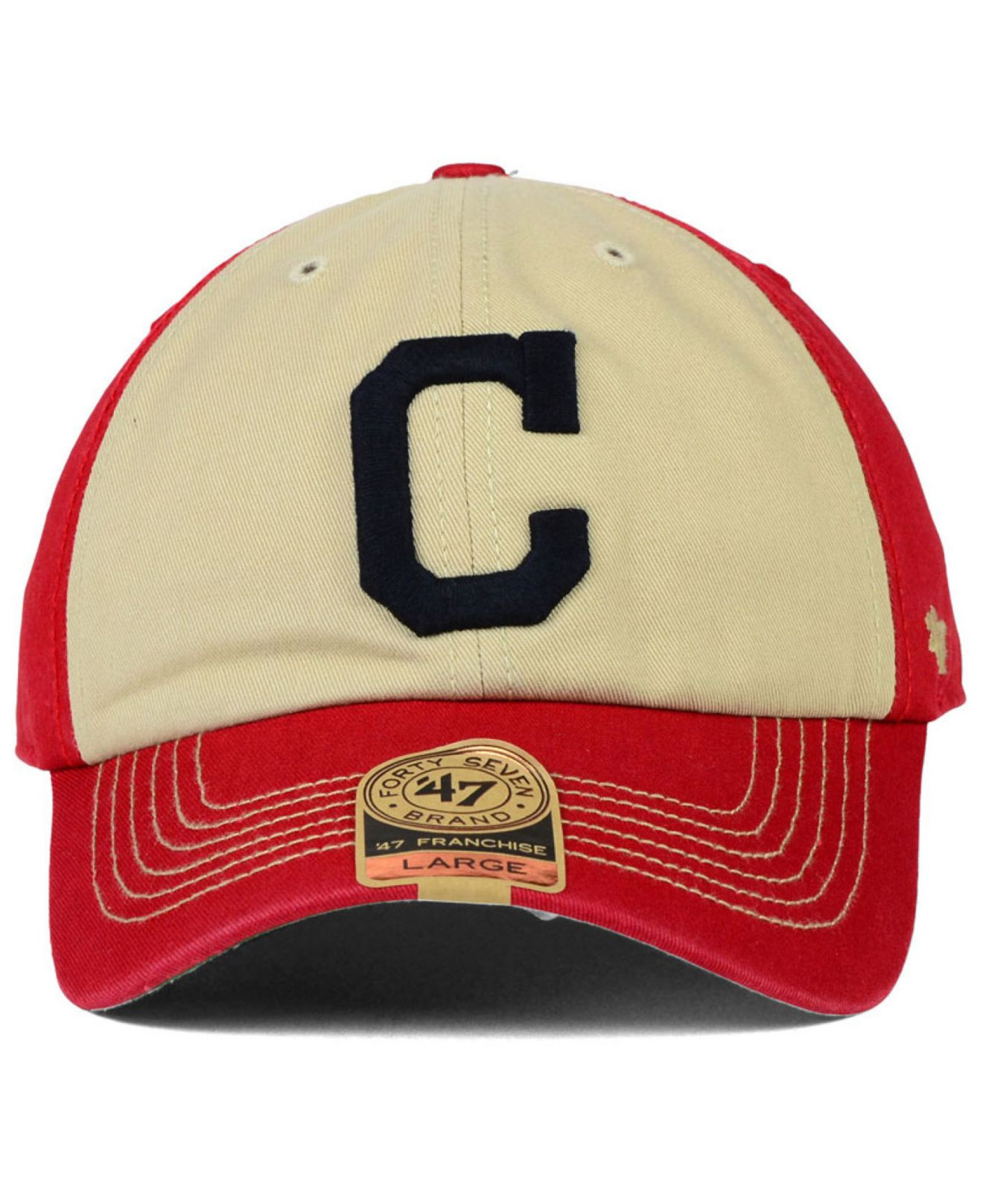 buy online 497be 3197f 47 Brand Cleveland Indians Hodson Franchise Cap in Red for Men - Lyst