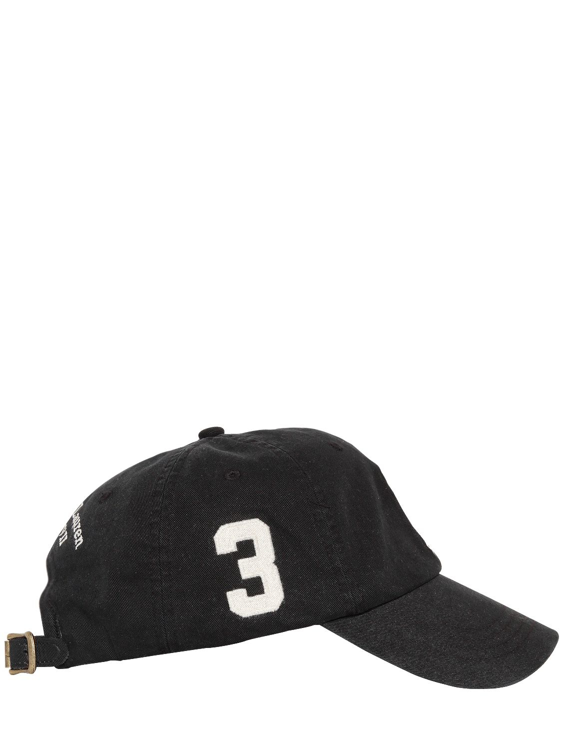 233b509c051 Polo Ralph Lauren Big Pony Cotton Canvas Baseball Hat in Black for ...