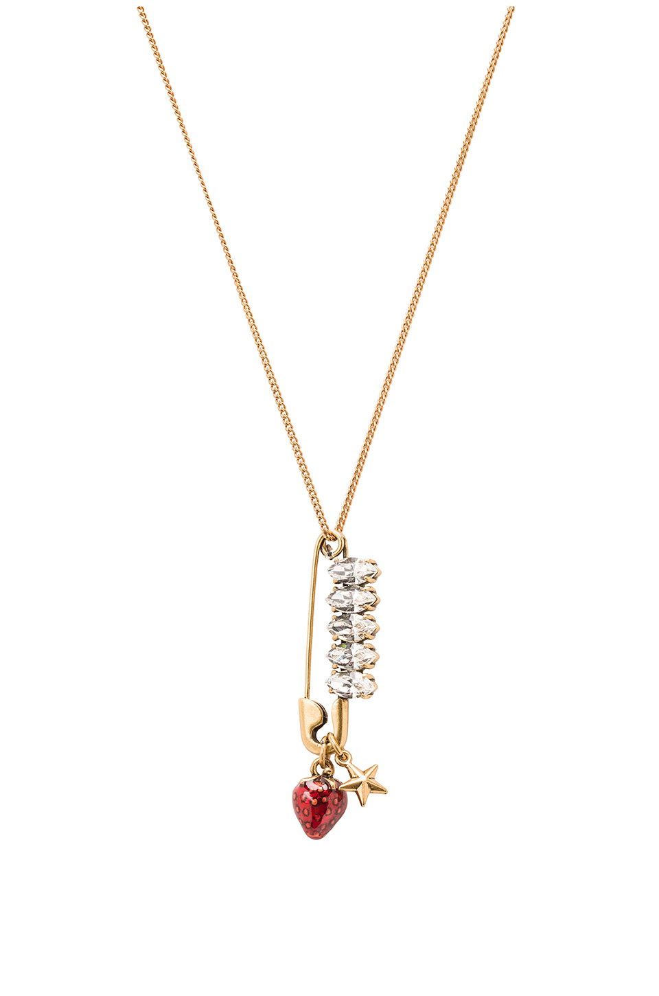 Marc Jacobs Charms Tree Pendant Necklace in Metallic Gold vJo410Kt4