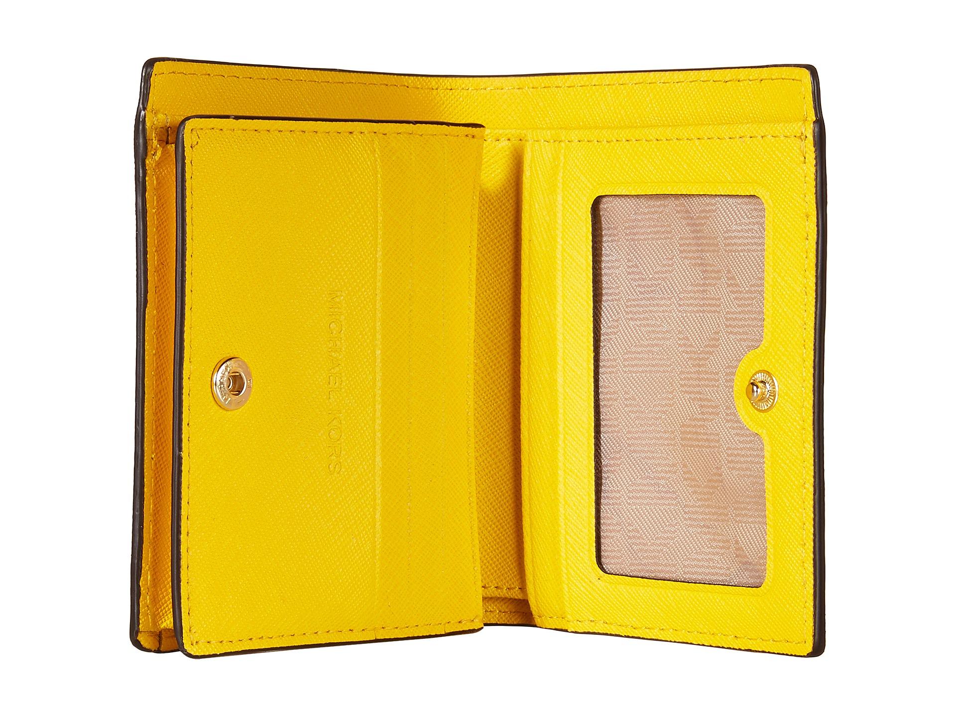 314d213b2464 MICHAEL Michael Kors Jet Set Travel Flap Card Holder in Yellow - Lyst