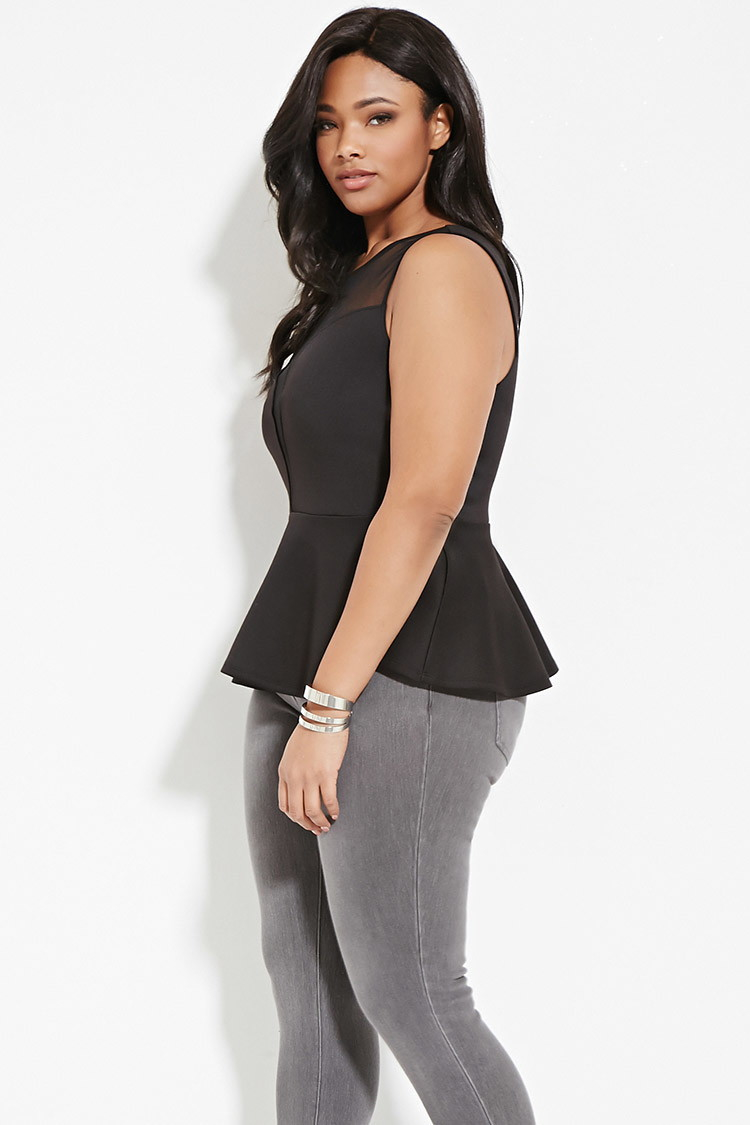 View More black peplum top plus size Related Products: peplum tops for plus size split sleeve top plus size top cropped plus size black white sexy blouse plus size.