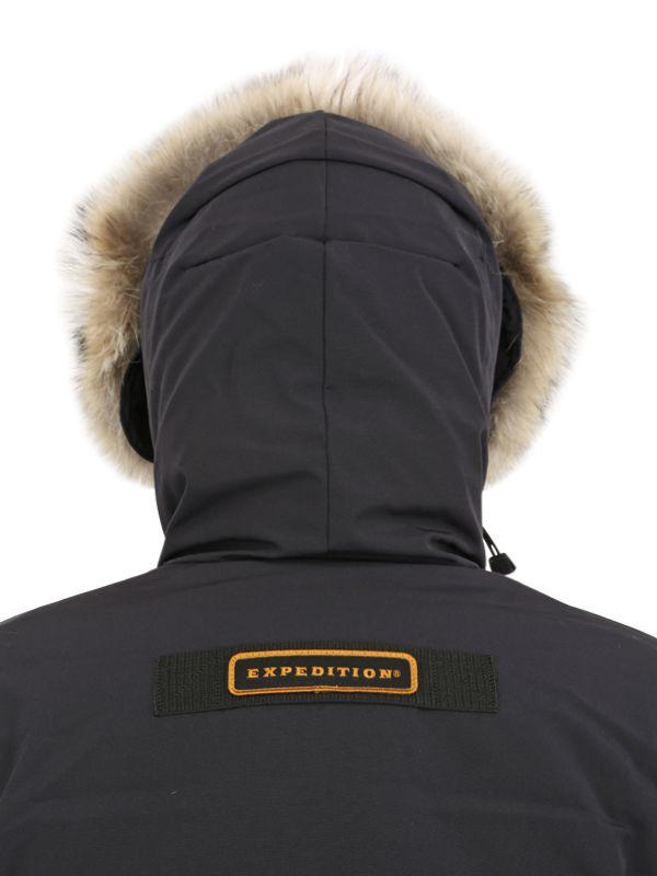 Canada Goose coats sale price - Canada goose Citadel Coyote Trim Down Parka in Black for Men | Lyst