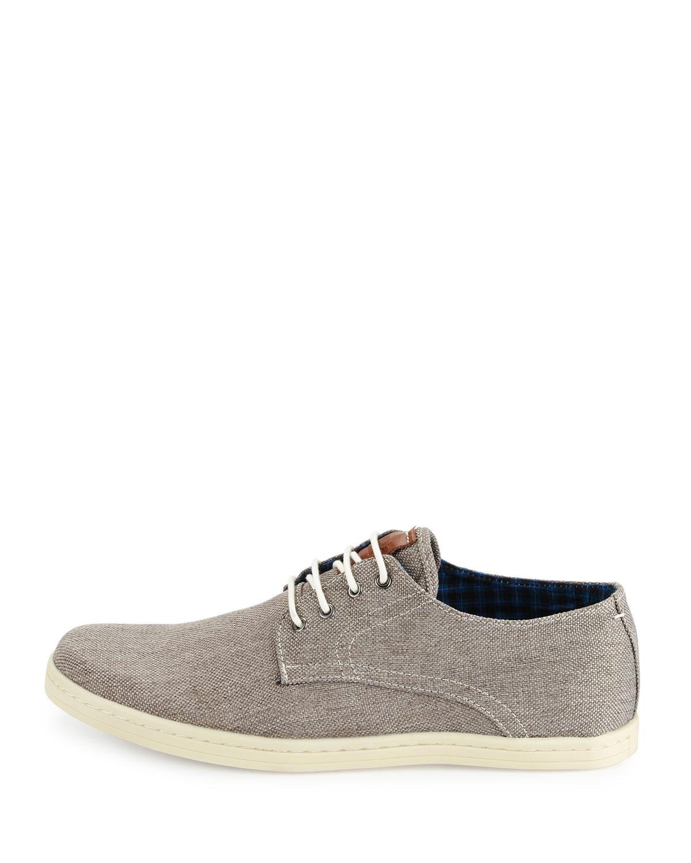 ben sherman oxford canvas sneaker in gray for