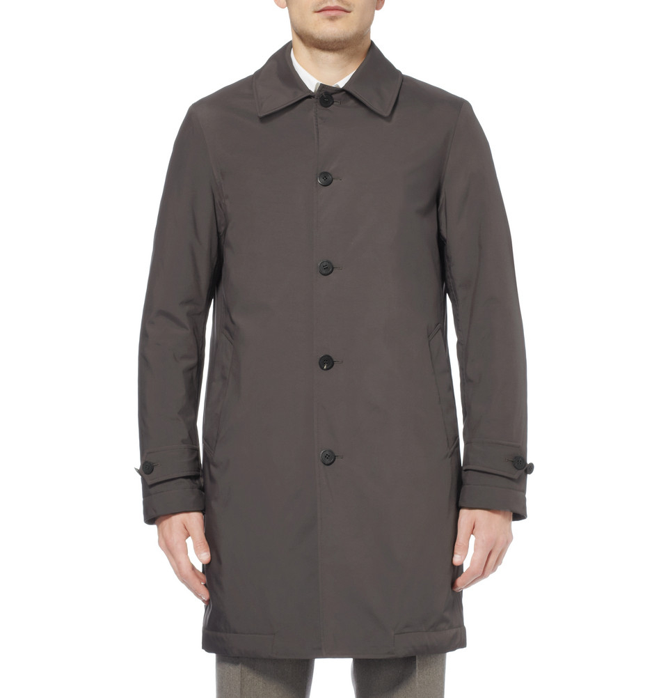 Lyst Canali Rain Amp Wind Tech Trench Coat In Gray For Men