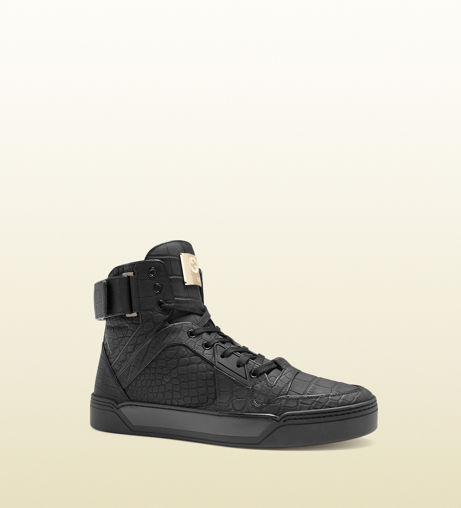 864a2746f27 Lyst - Gucci Limited Edition Crocodile Sneakers in Black for Men