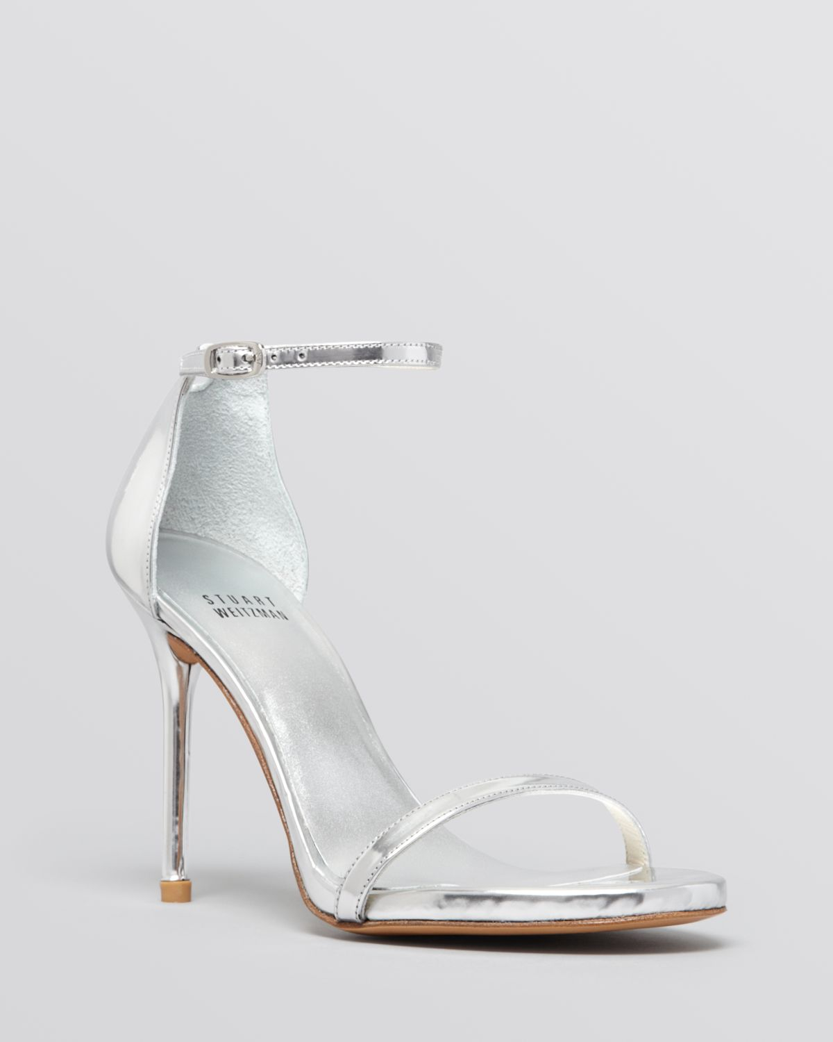 Lyst - Stuart weitzman Ankle Strap Sandals - Nudist High Heel ...