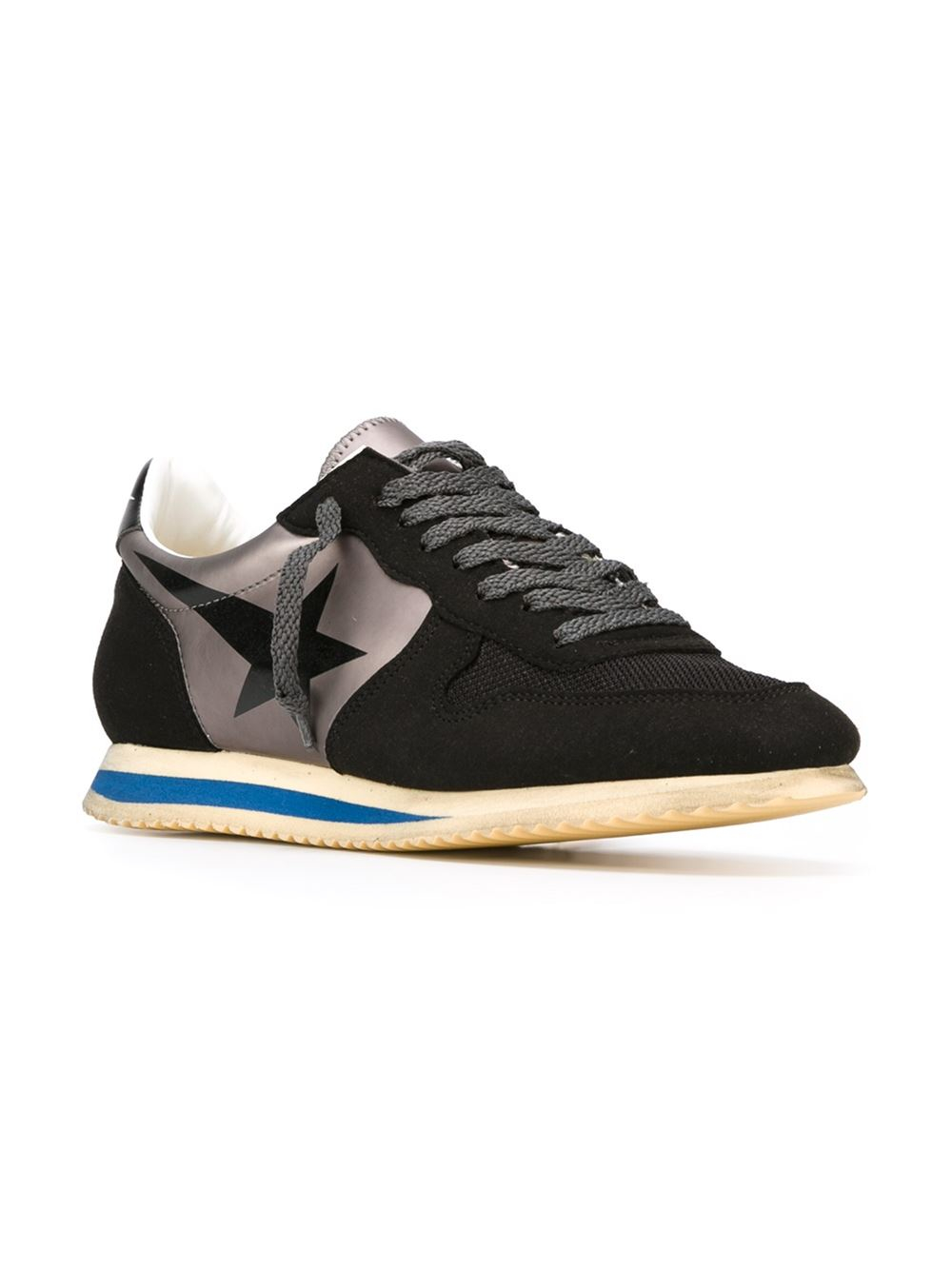 golden goose deluxe brand 39 running 39 sneakers in black lyst. Black Bedroom Furniture Sets. Home Design Ideas