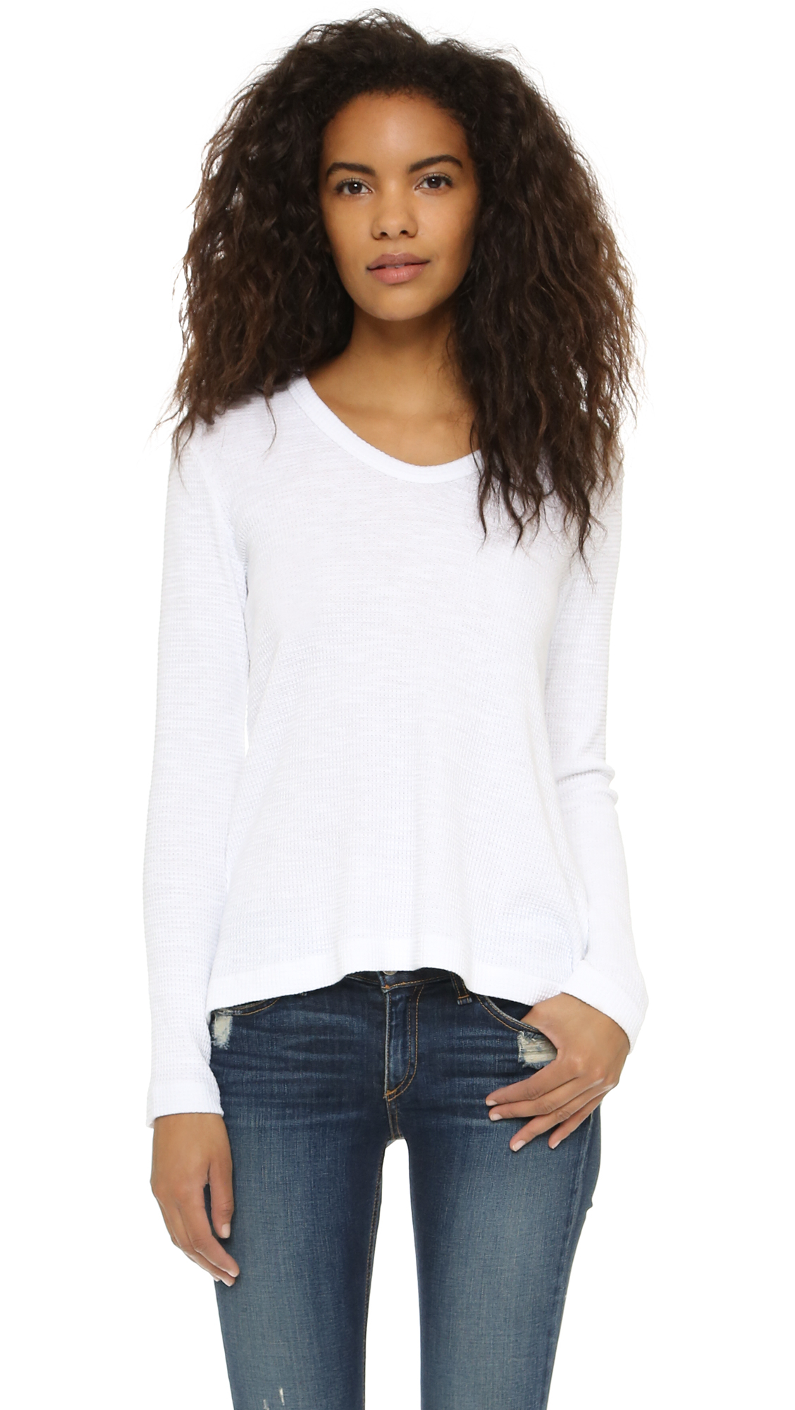 Lyst Wilt Thermal Baby Slouch Bf Tee in White