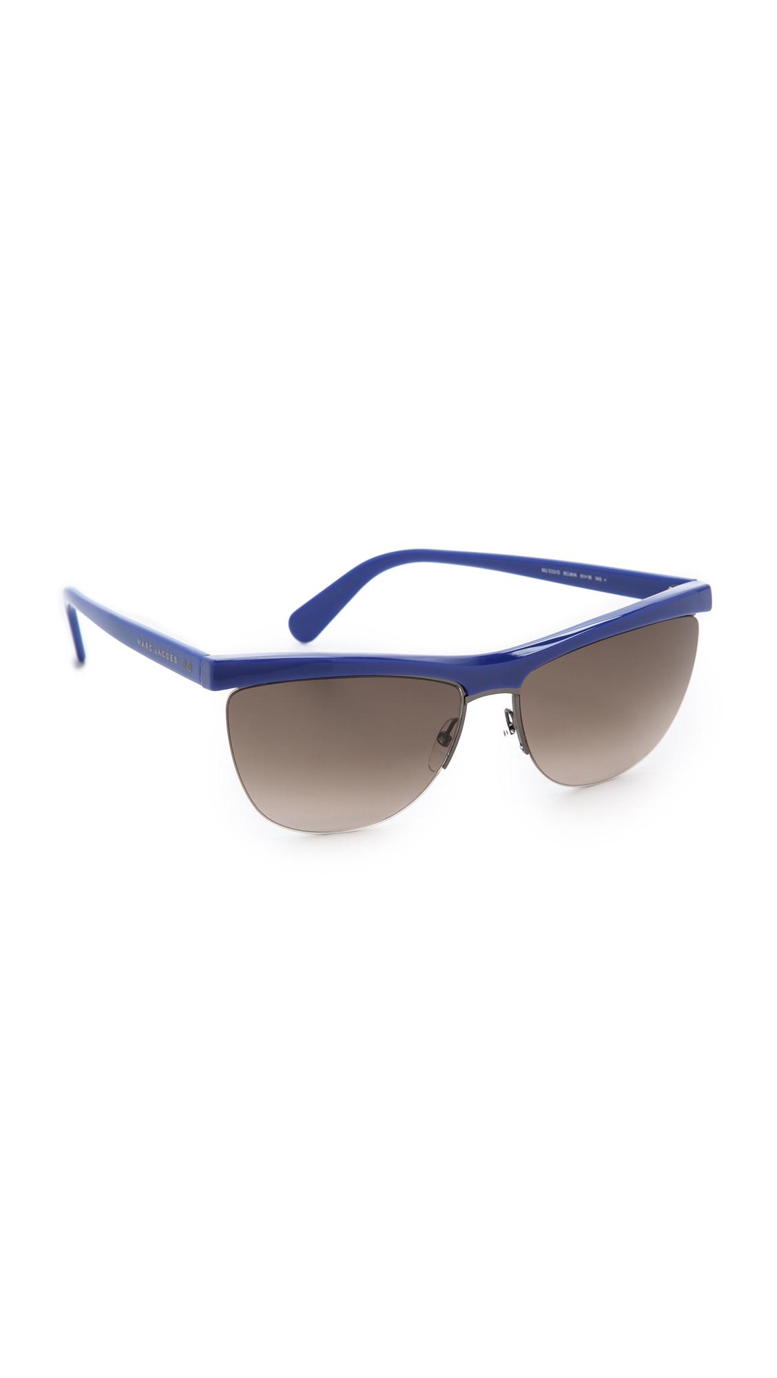 Bottom Rimless Glasses : Marc Jacobs Rimless Bottom Sunglasses - Gold/Brown ...