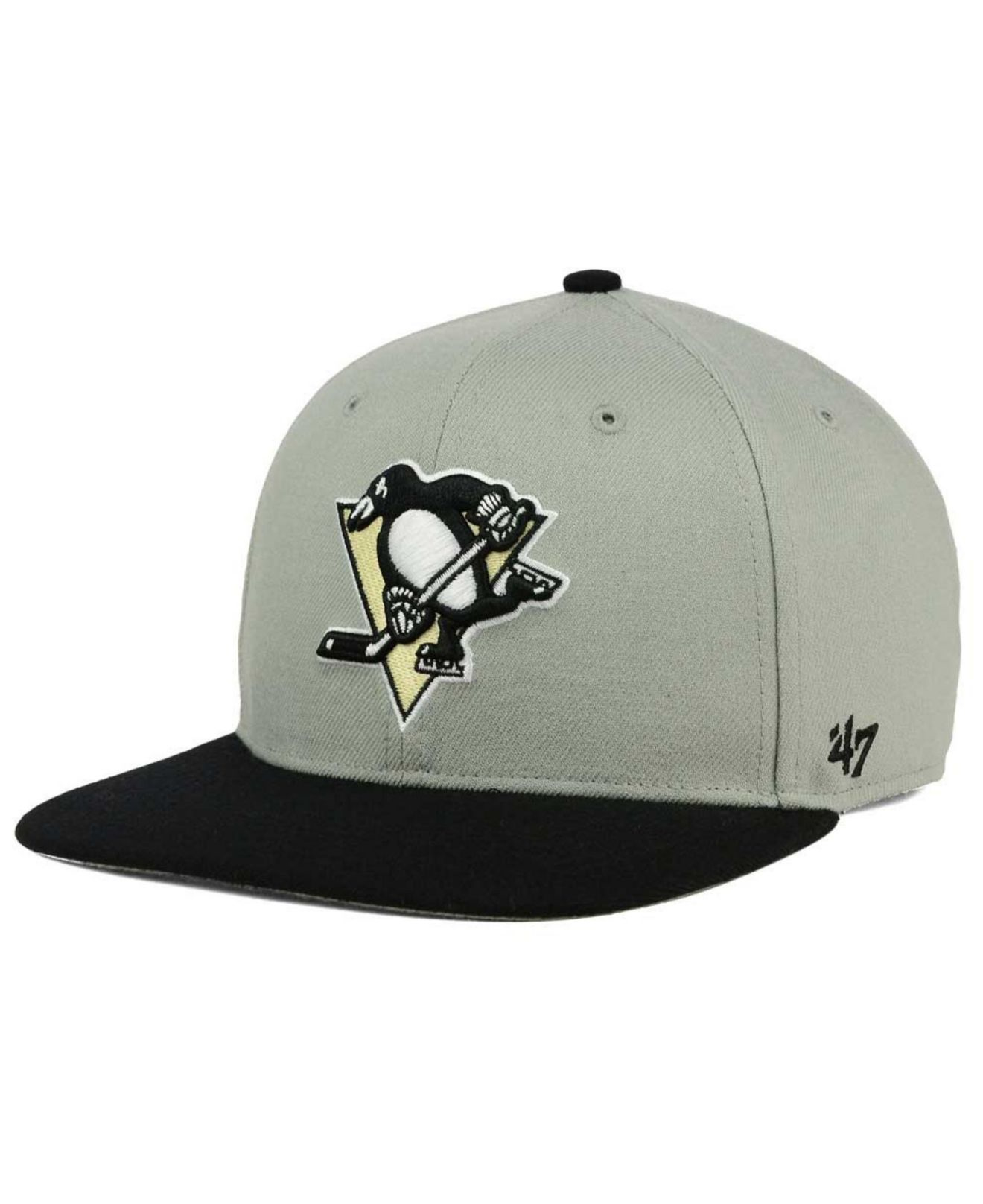 timeless design 77cf0 e7a98 Lyst - 47 Brand Pittsburgh Penguins Sure Shot Snapback Cap in Gray ...