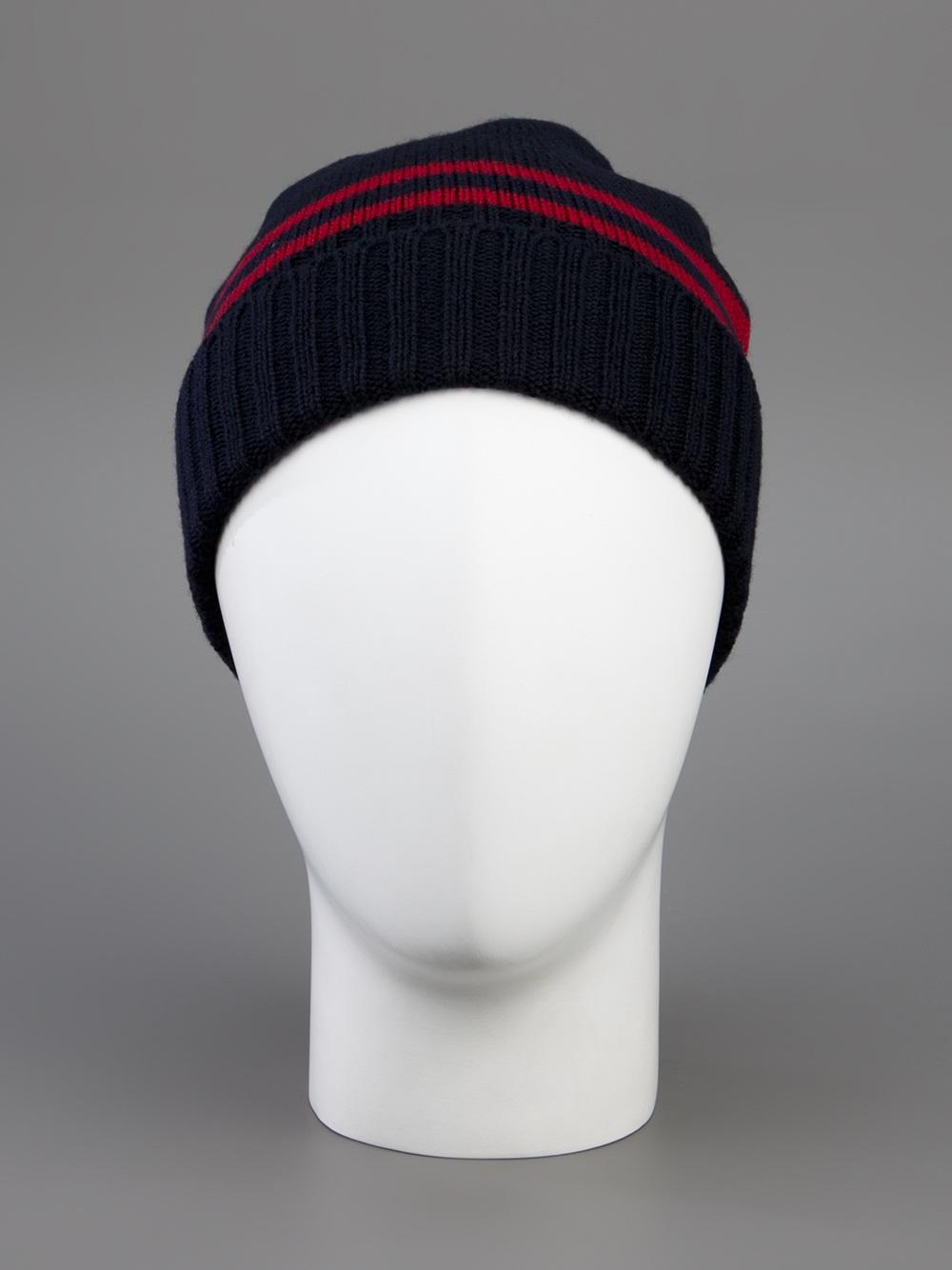 635ed6fa147db Gucci Beanie Hat in Blue for Men - Lyst