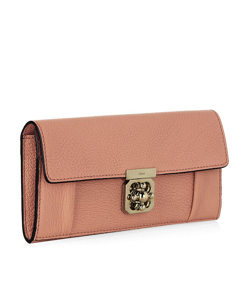 chloe red long georgia wallet