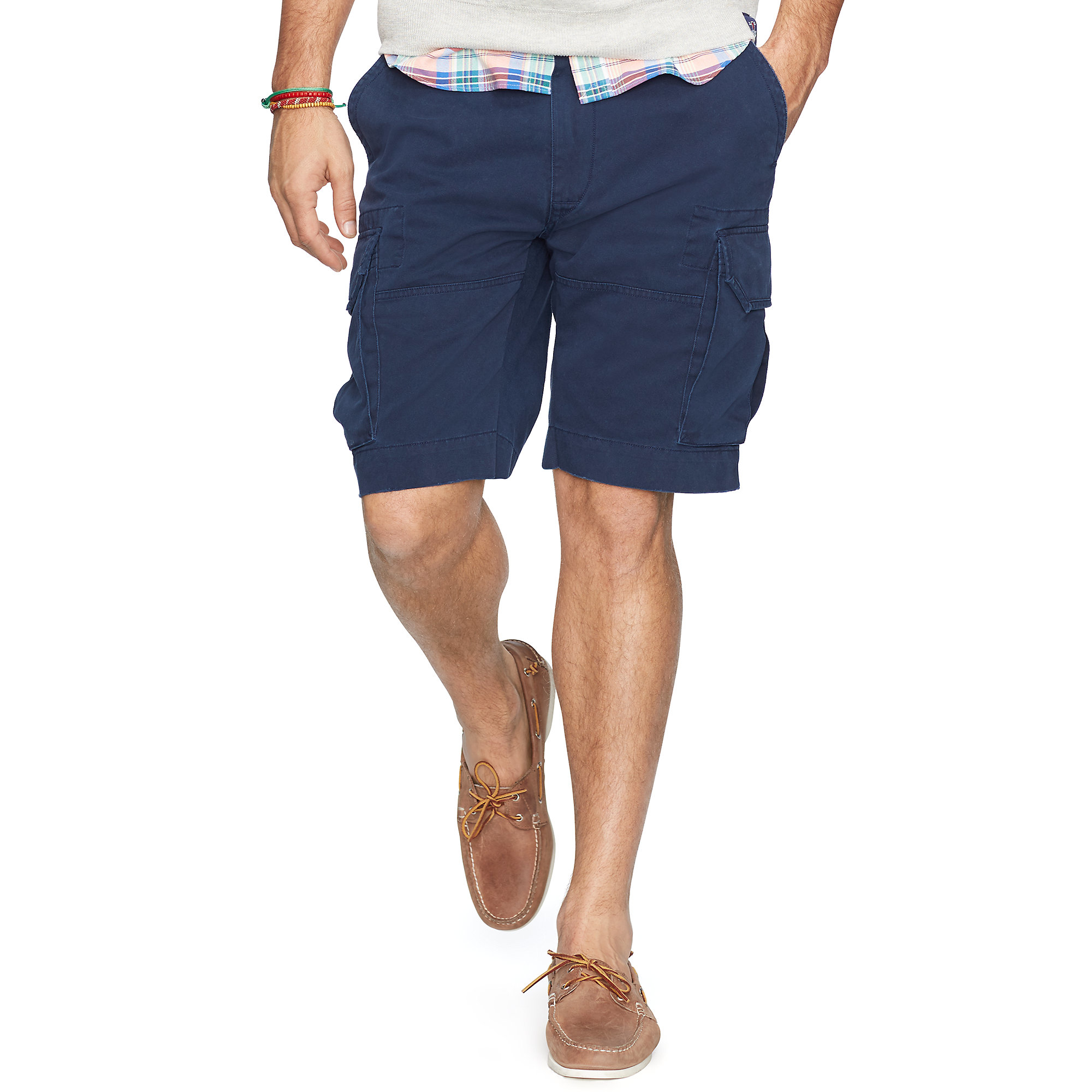 Pink pony Classic-fit Chino Cargo Short in Blue for Men | Lyst