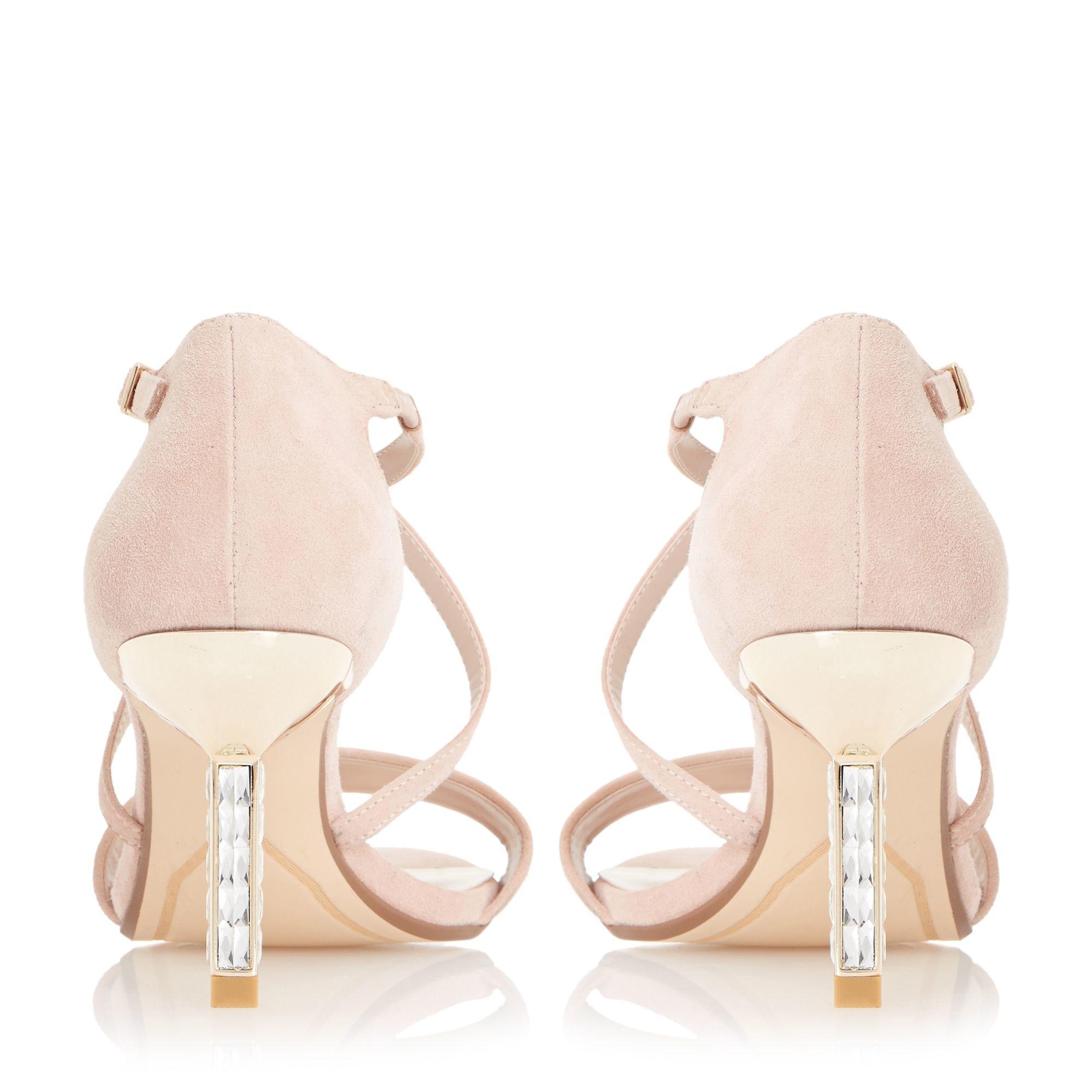 Black dress sandals medium heel - Gallery