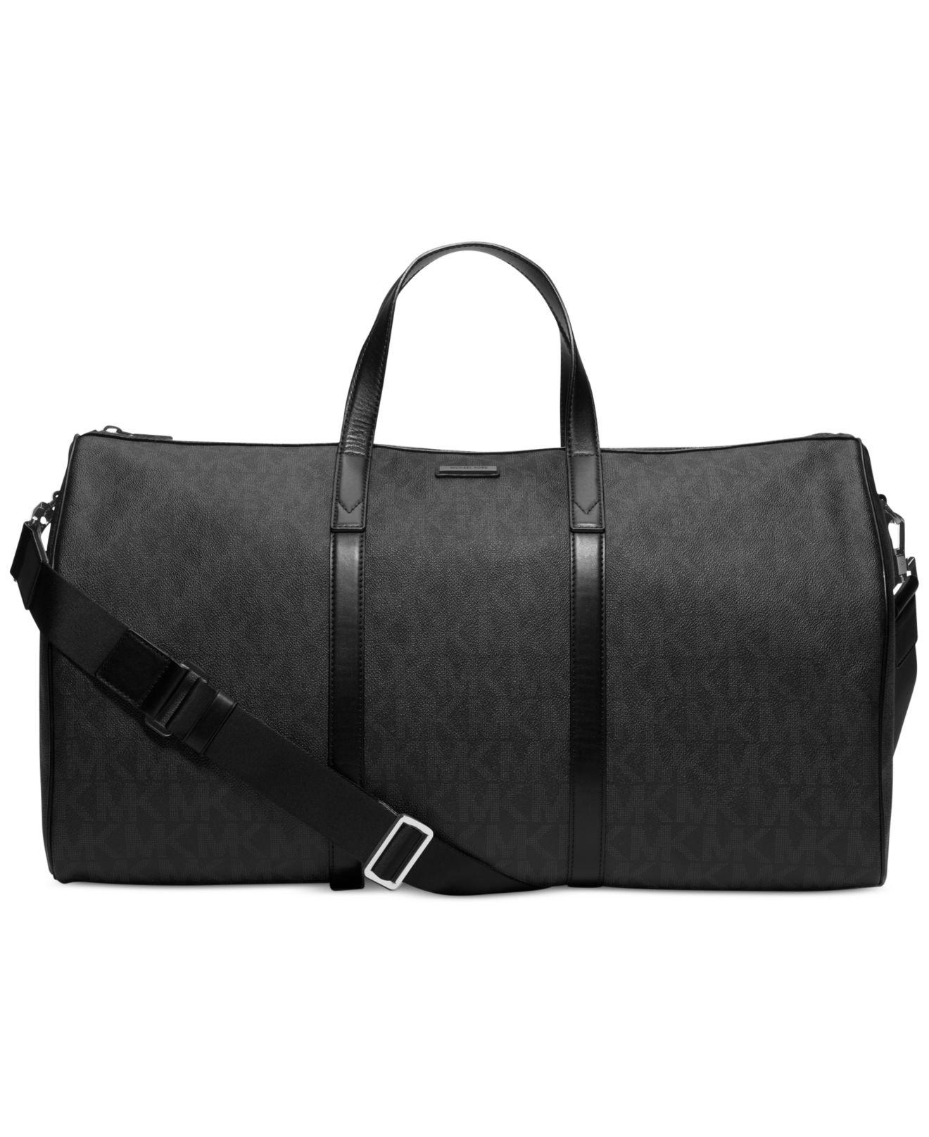 05b2effb4d09 Lyst - Michael Kors Signature Logo Jet Set Travel Duffle Bag in ...