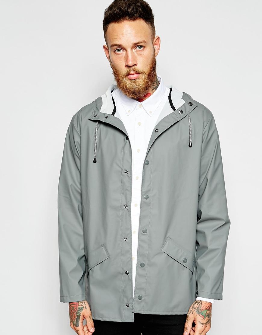 Rains Waterproof Short Jacket in Gray for Men | Lyst