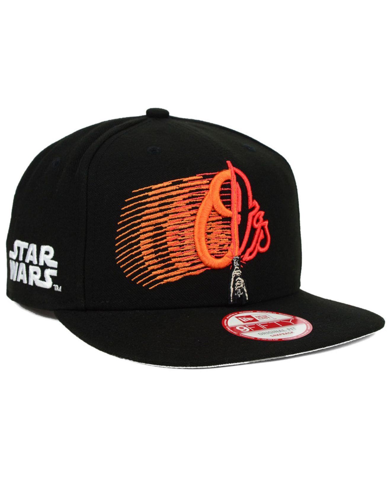 best loved 1fa16 9dafd KTZ Baltimore Orioles Star Wars Logoswipe 9fifty Snapback Cap in ...