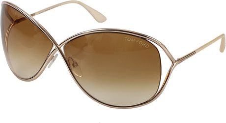 tom ford miranda sunglasses in brown gld 28f lyst. Cars Review. Best American Auto & Cars Review