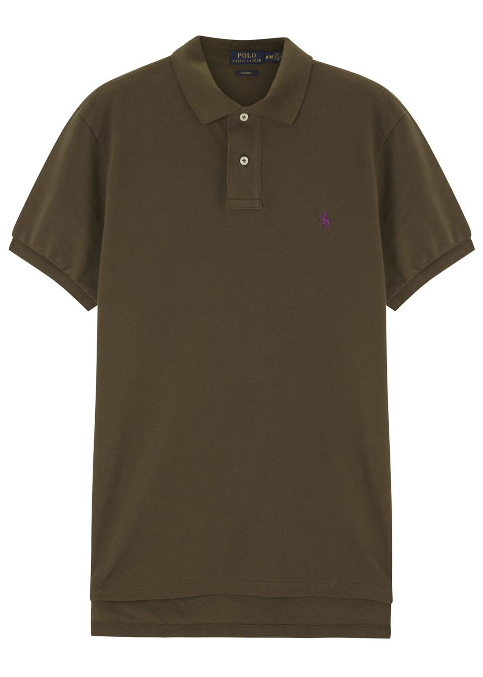 22651c241f8f Polo Ralph Lauren Olive Piqué Cotton Polo Shirt in Green for Men - Lyst