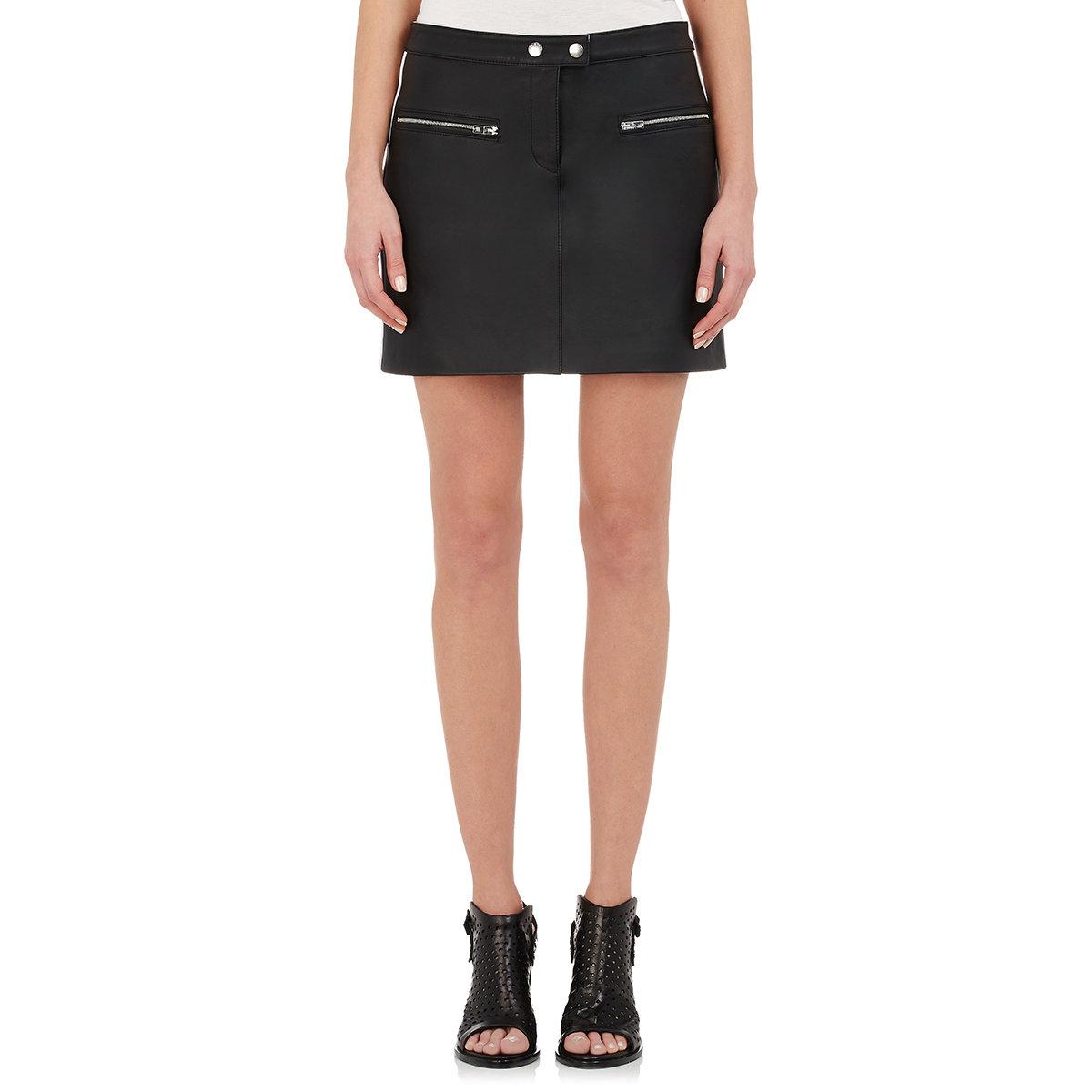 rag bone s leather pace miniskirt in black lyst