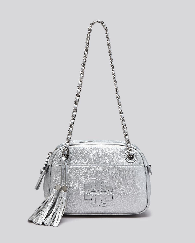 c9502f508af5 Tory Burch Thea Chain-Strap Crossbody Bag in Metallic - Lyst