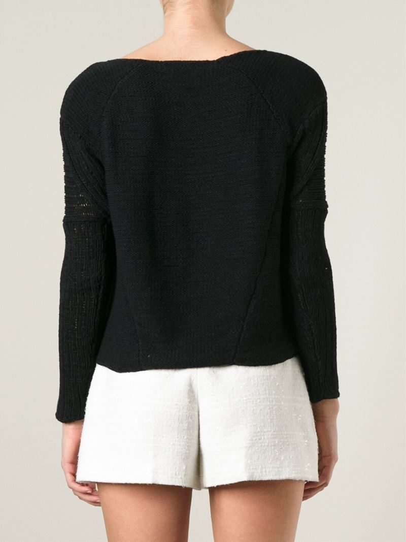 Helmut lang Open Knit Panel Sweater in Black | Lyst. Helmut Lang Open Knit  Panel Sweater In Black Lyst - 636 Best Fashion Style Images On Pinterest Cool Sweaters . Prana