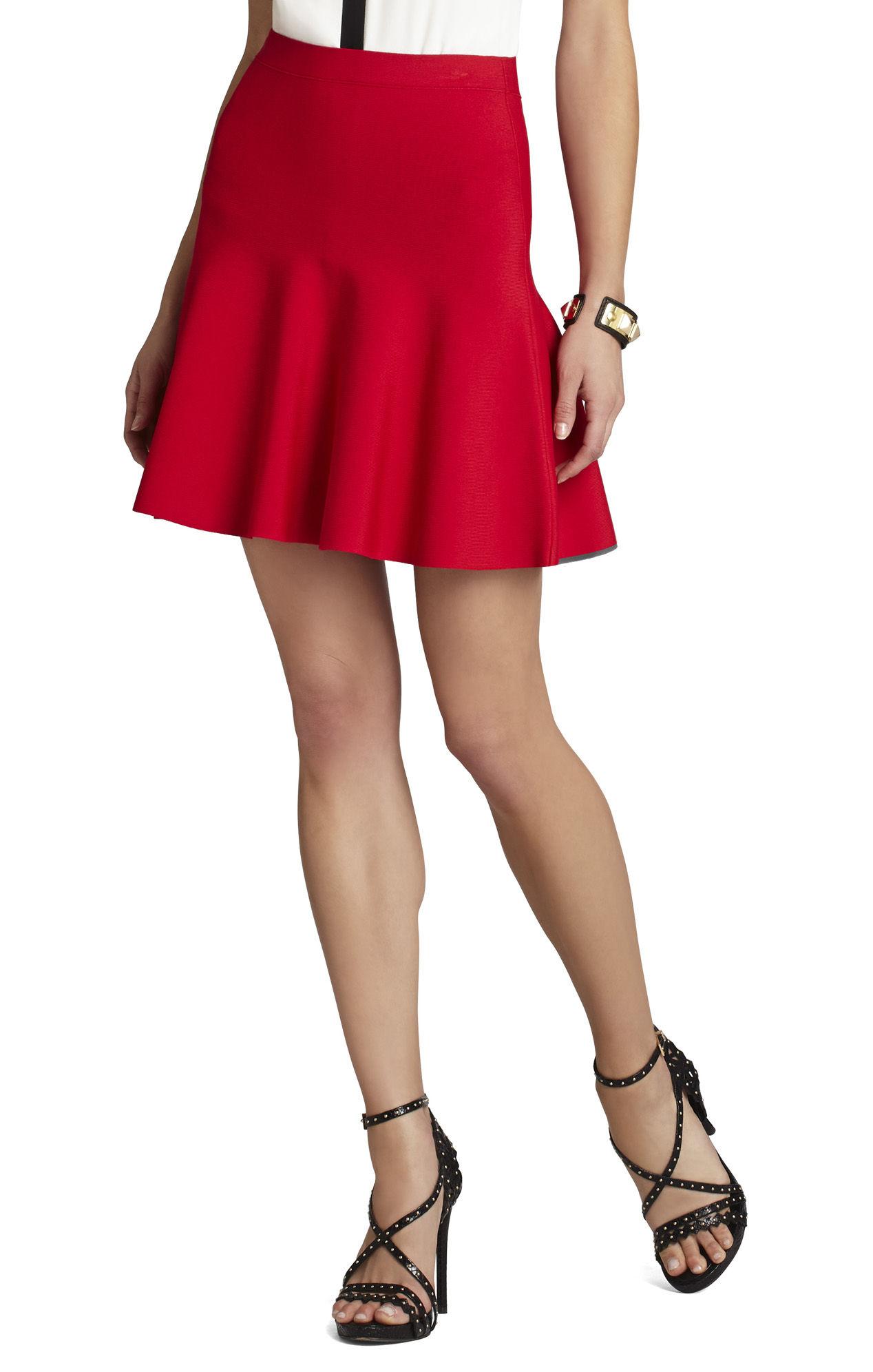 bcbgmaxazria ingrid a line skirt in poppy lyst
