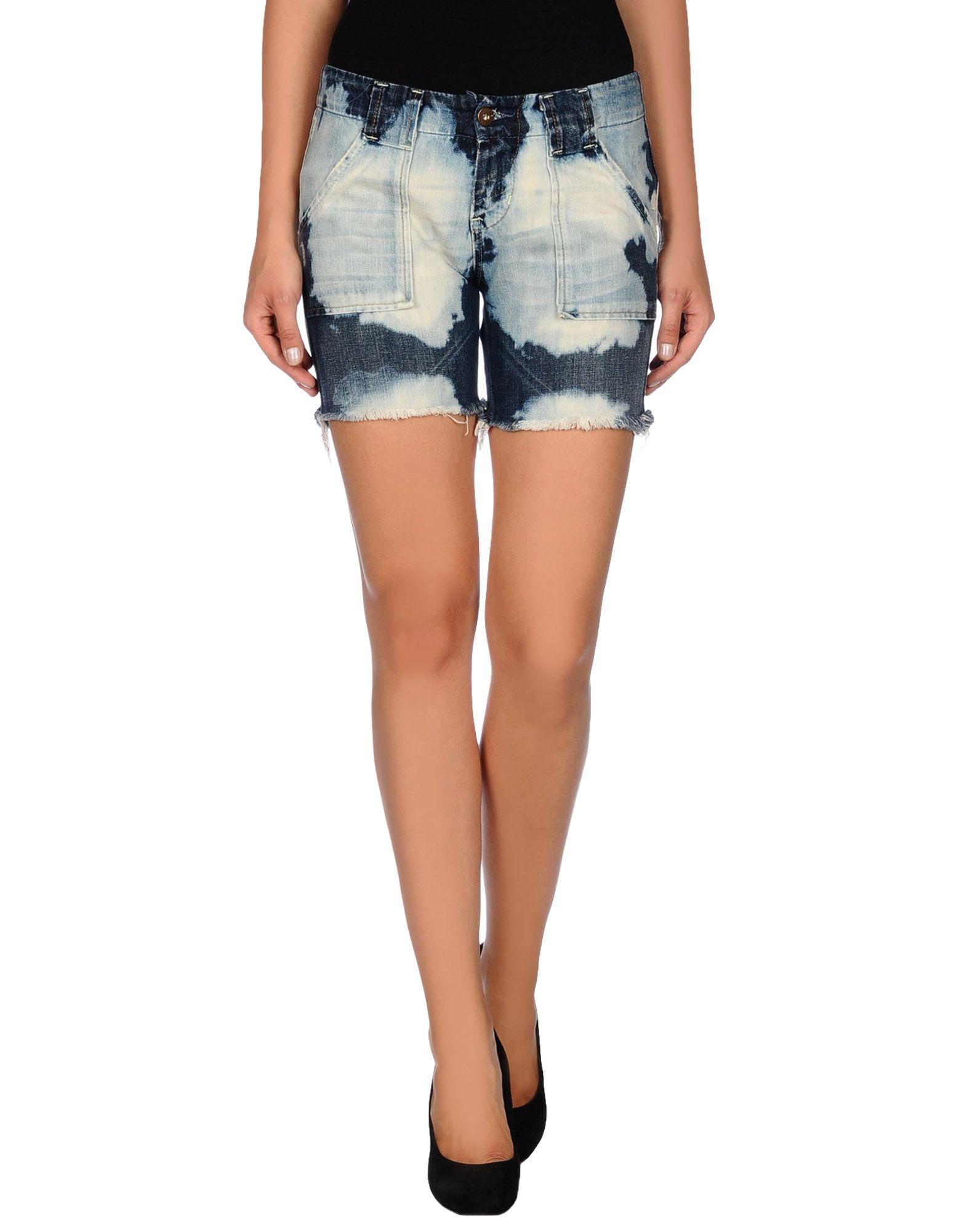pepe jeans shorts damen pepe jeans denim shorts in blue. Black Bedroom Furniture Sets. Home Design Ideas