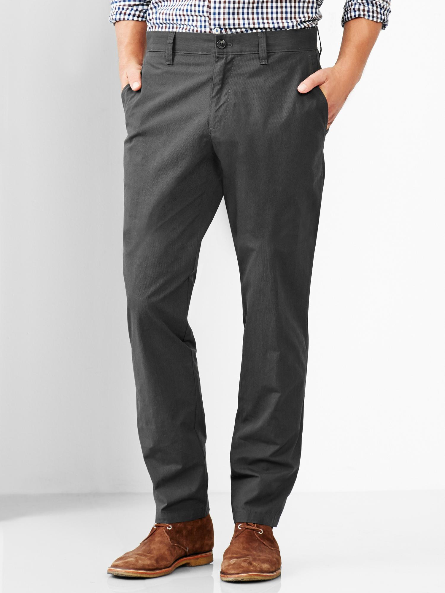 Gap Pinstripe Tailored Pant Slim Fit In Gray For Men