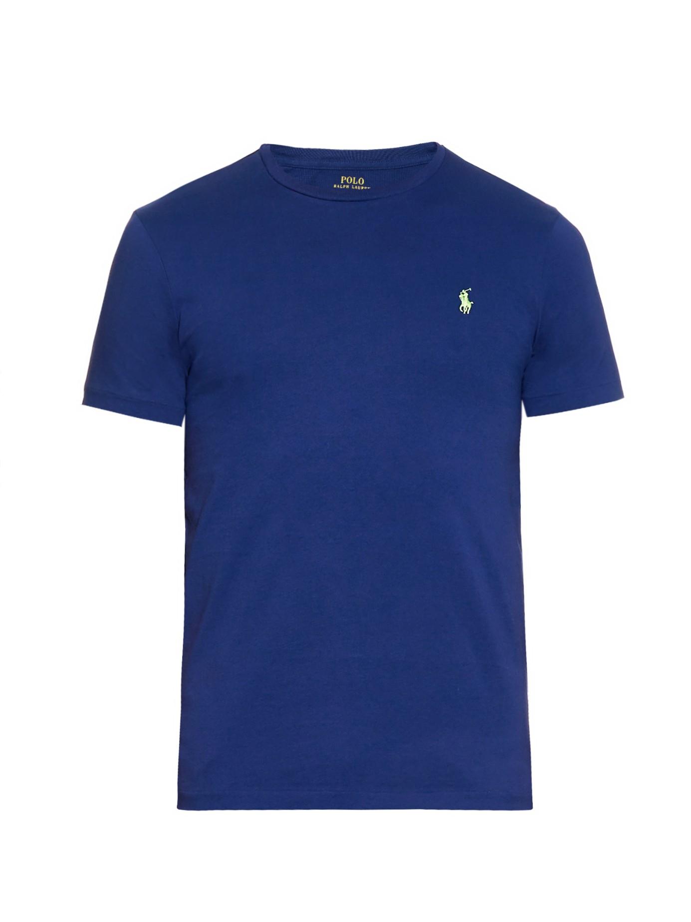 polo ralph lauren crew neck t shirt in blue for men lyst. Black Bedroom Furniture Sets. Home Design Ideas
