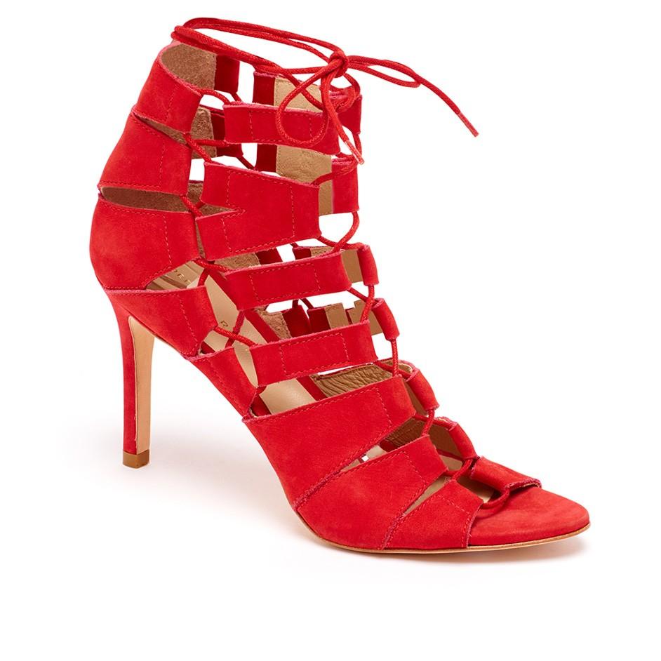 Loeffler randall Lottie Gladiator Heel in Red   Lyst
