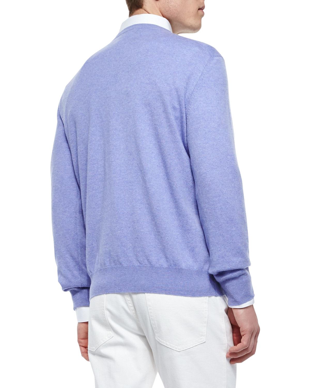 Lyst Ermenegildo Zegna Premium Cashmere V Neck Sweater