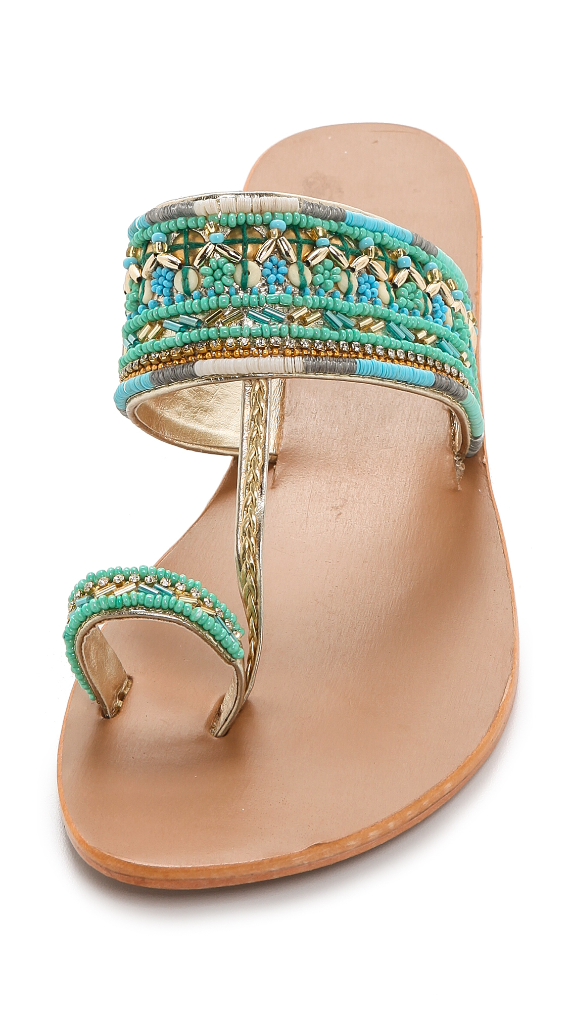24a06fd0e Lyst - Star Mela Sabri Beaded Sandals - Turquoise in Blue
