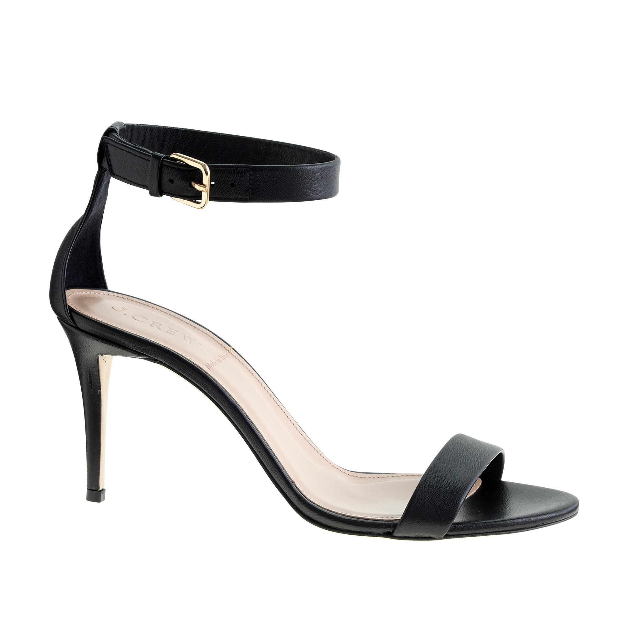 j crew high heel ankle sandals in black lyst