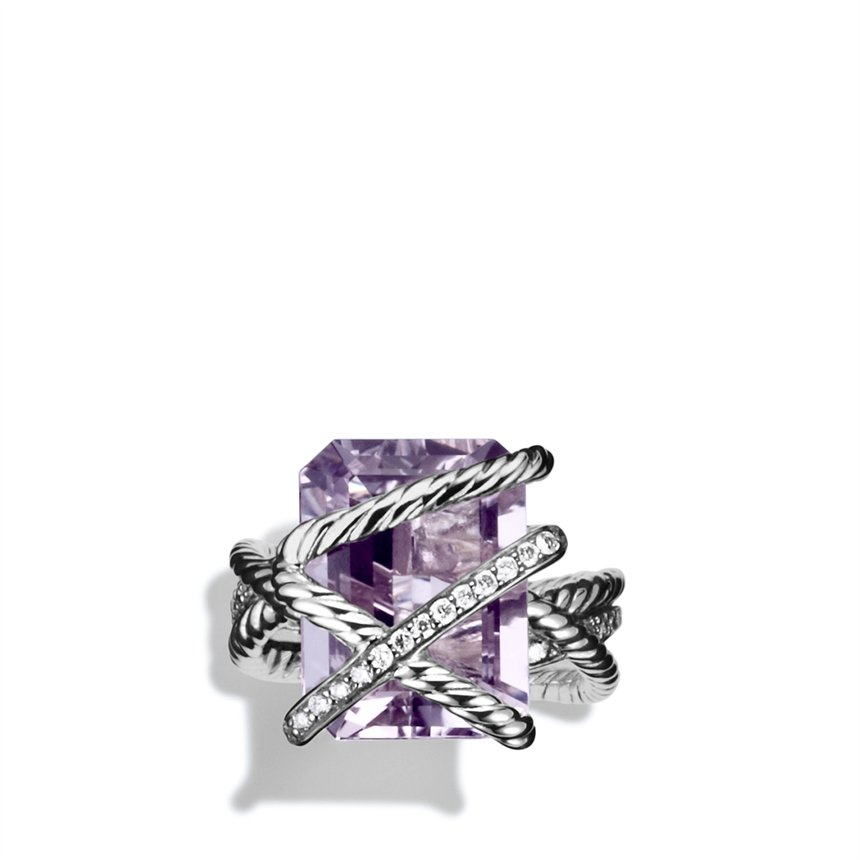 Lyst David Yurman Cable Wrap Ring With Lavender Amethyst