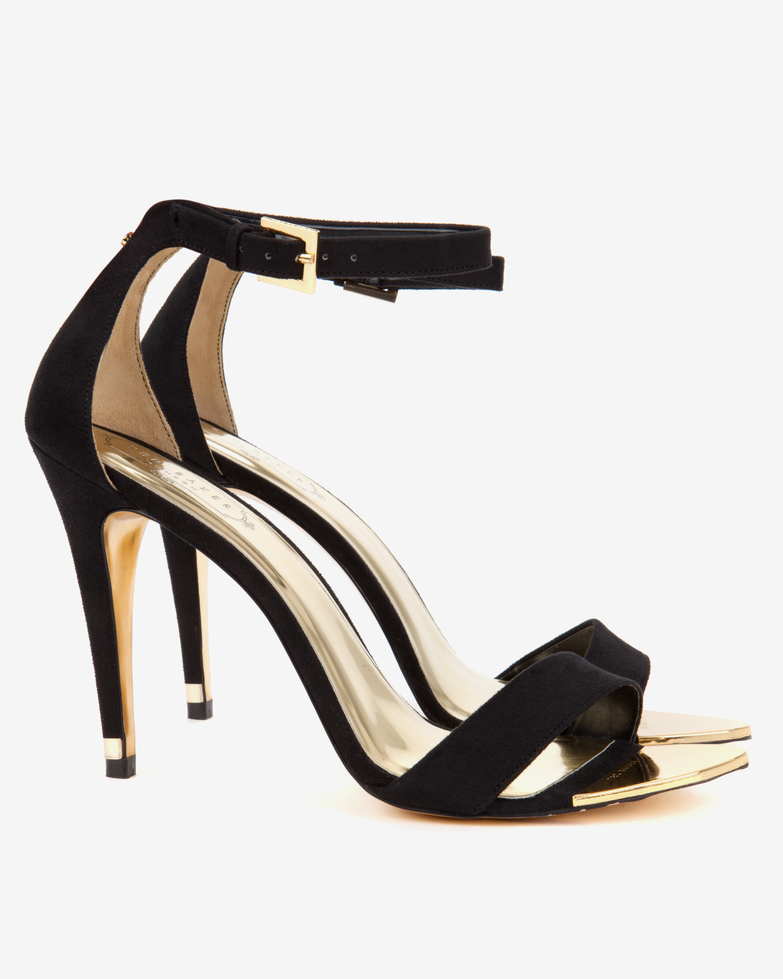 Ted baker Ankle Strap Sandals in Black | Lyst