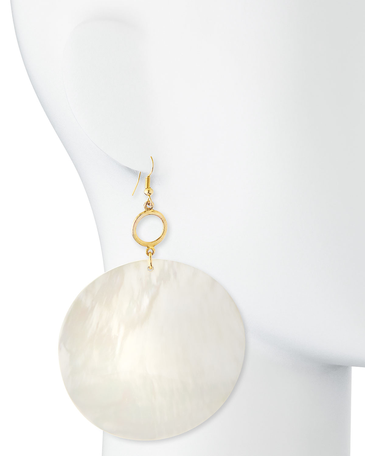 Viktoria Hayman Mother-of-Pearl Disc Drop Earrings HE06hXB
