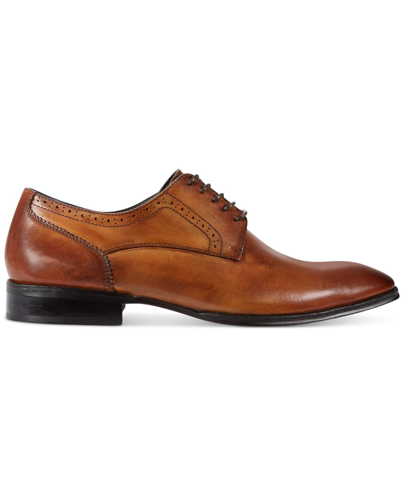 alfani s spin plain toe lace up shoes in brown for
