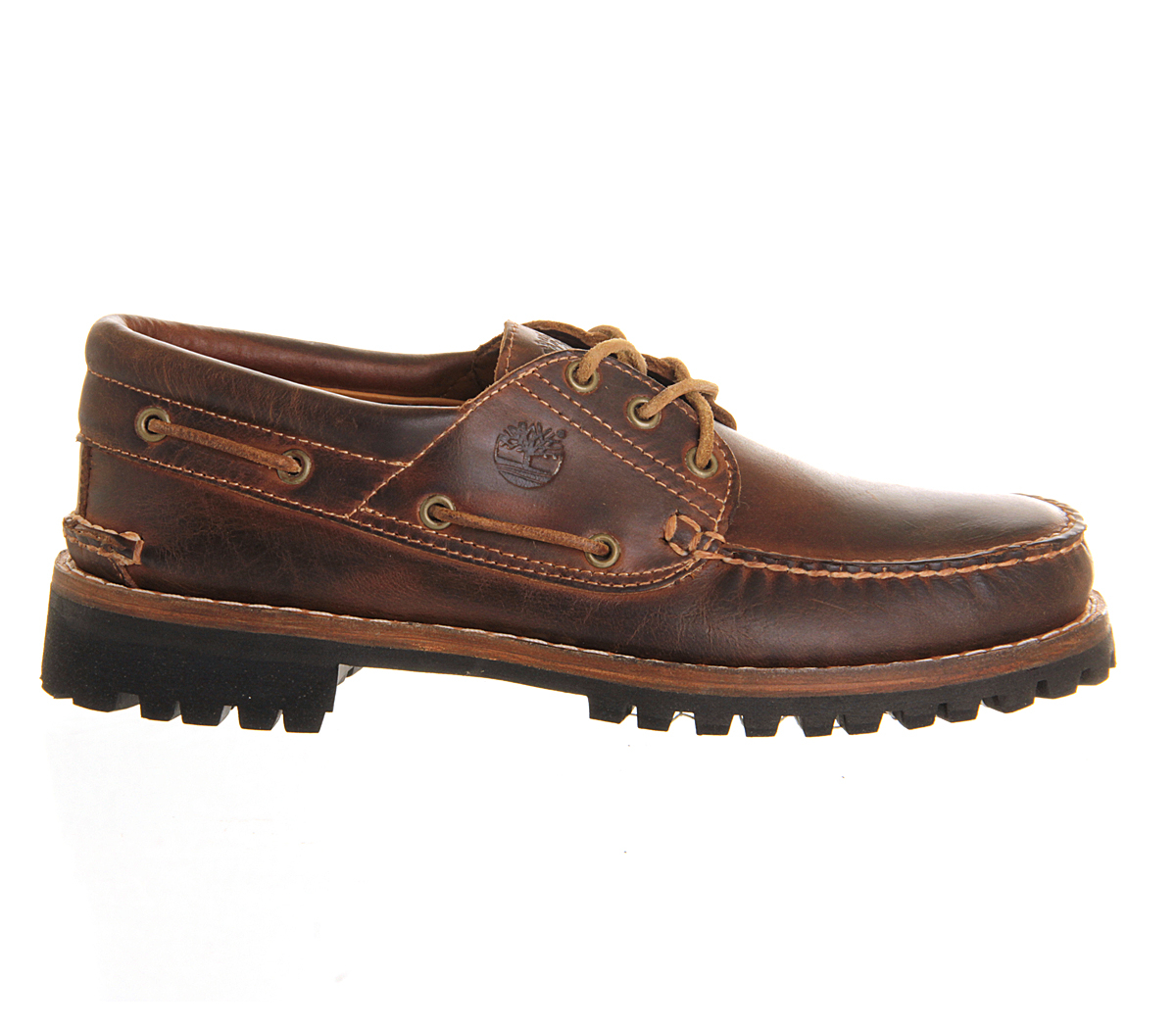 timberland heritage 3 eye boat shoe in brown for men lyst. Black Bedroom Furniture Sets. Home Design Ideas