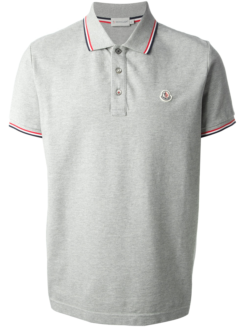 mens red moncler polo shirt