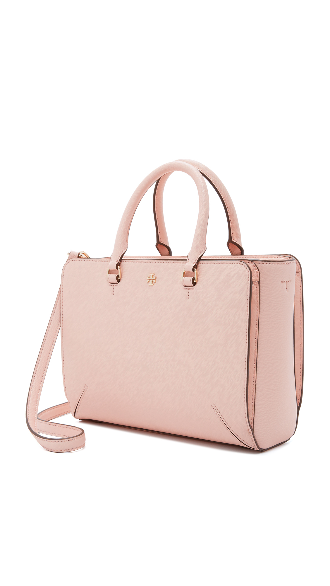 fd6b0ae2c080 Lyst - Tory Burch Robinson Small Zip Tote in Pink
