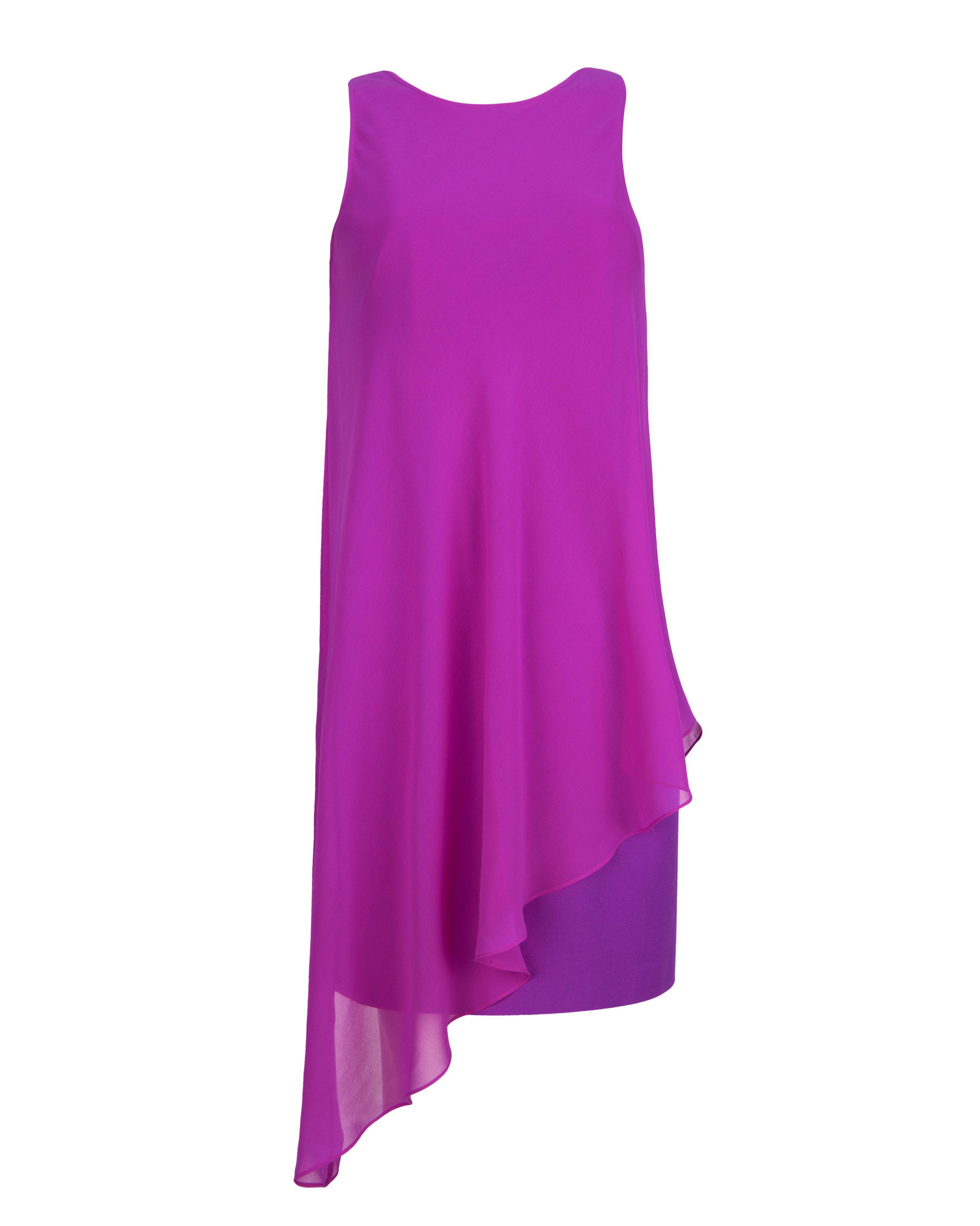 Asymmetric Drape Dress: Ted Baker Locie Asymmetric Drape Tunic Dress In Purple