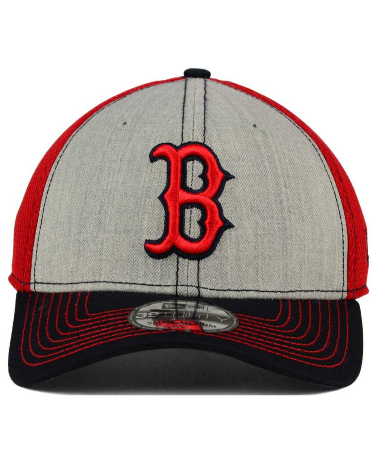 dc9ce19cf11 ... italy lyst ktz boston red sox heathered neo 39thirty cap in black for  men a6bbe ac43f