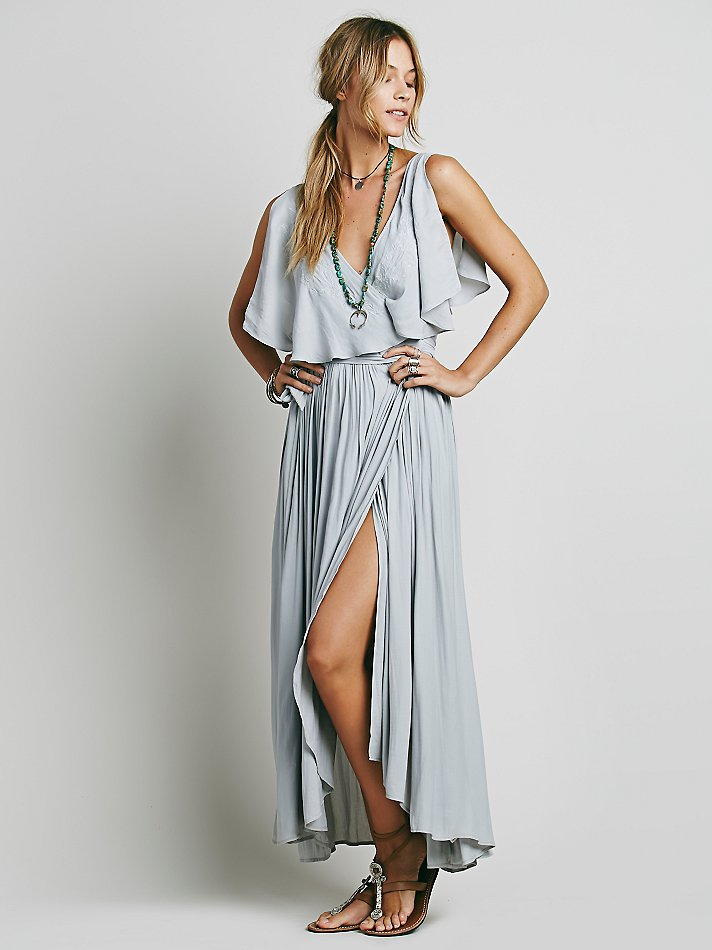 Lyst Free People Womens Fiona S Maxi Dress In Blue