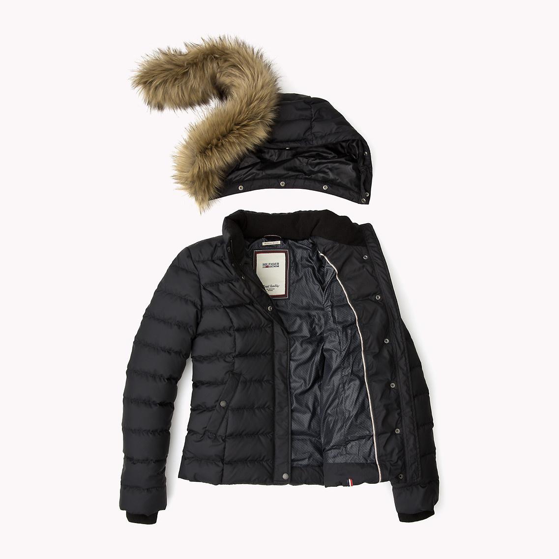 tommy hilfiger down jacquard jacket in black lyst. Black Bedroom Furniture Sets. Home Design Ideas