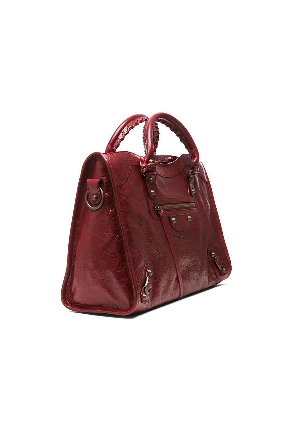 cc8e5ec1261d Lyst - Balenciaga Classic City Bag With Traditional Studs in Red