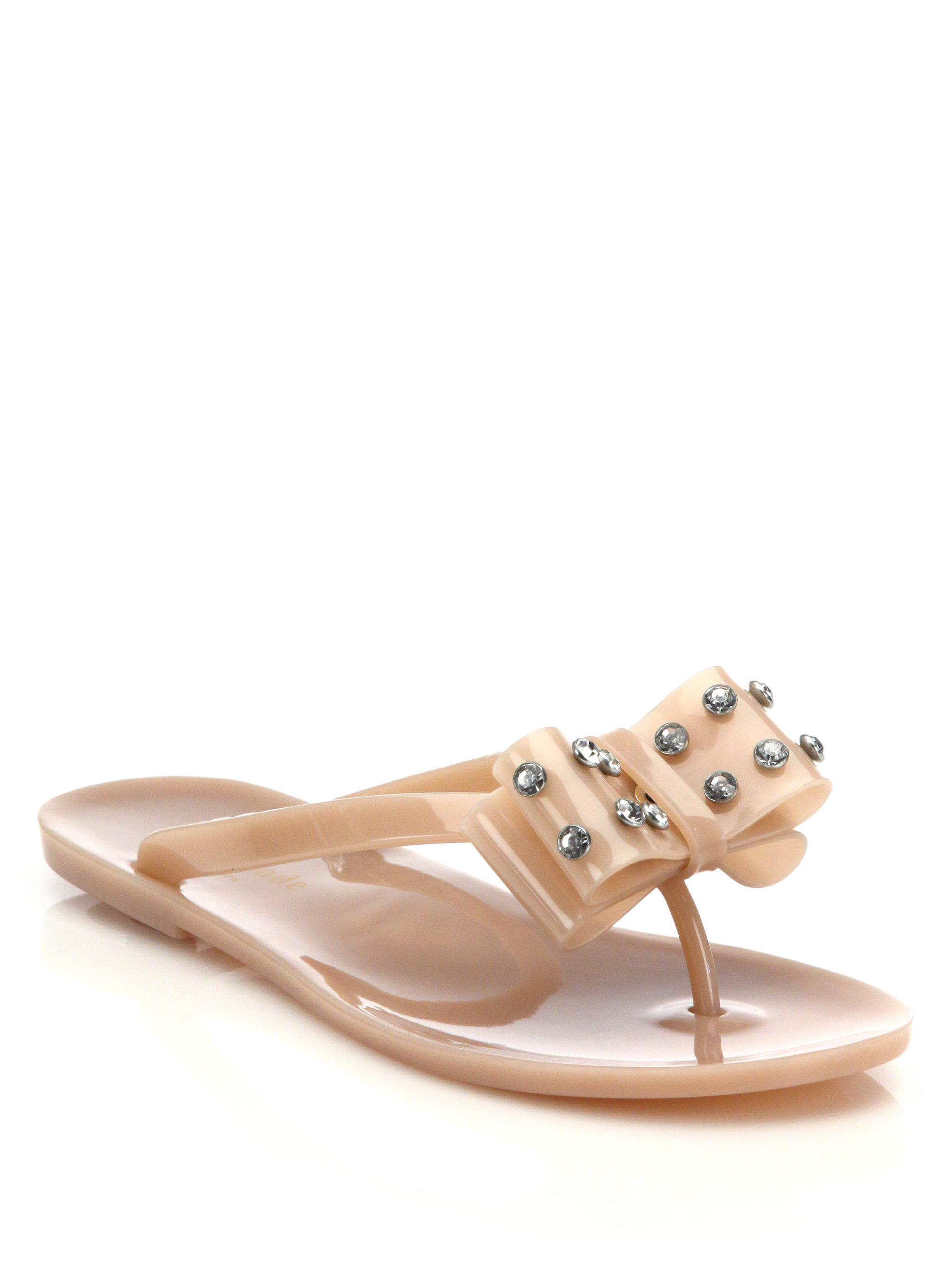 80eae0d6f5c Lyst - Kate Spade France Jelly Flat Sandals in Purple