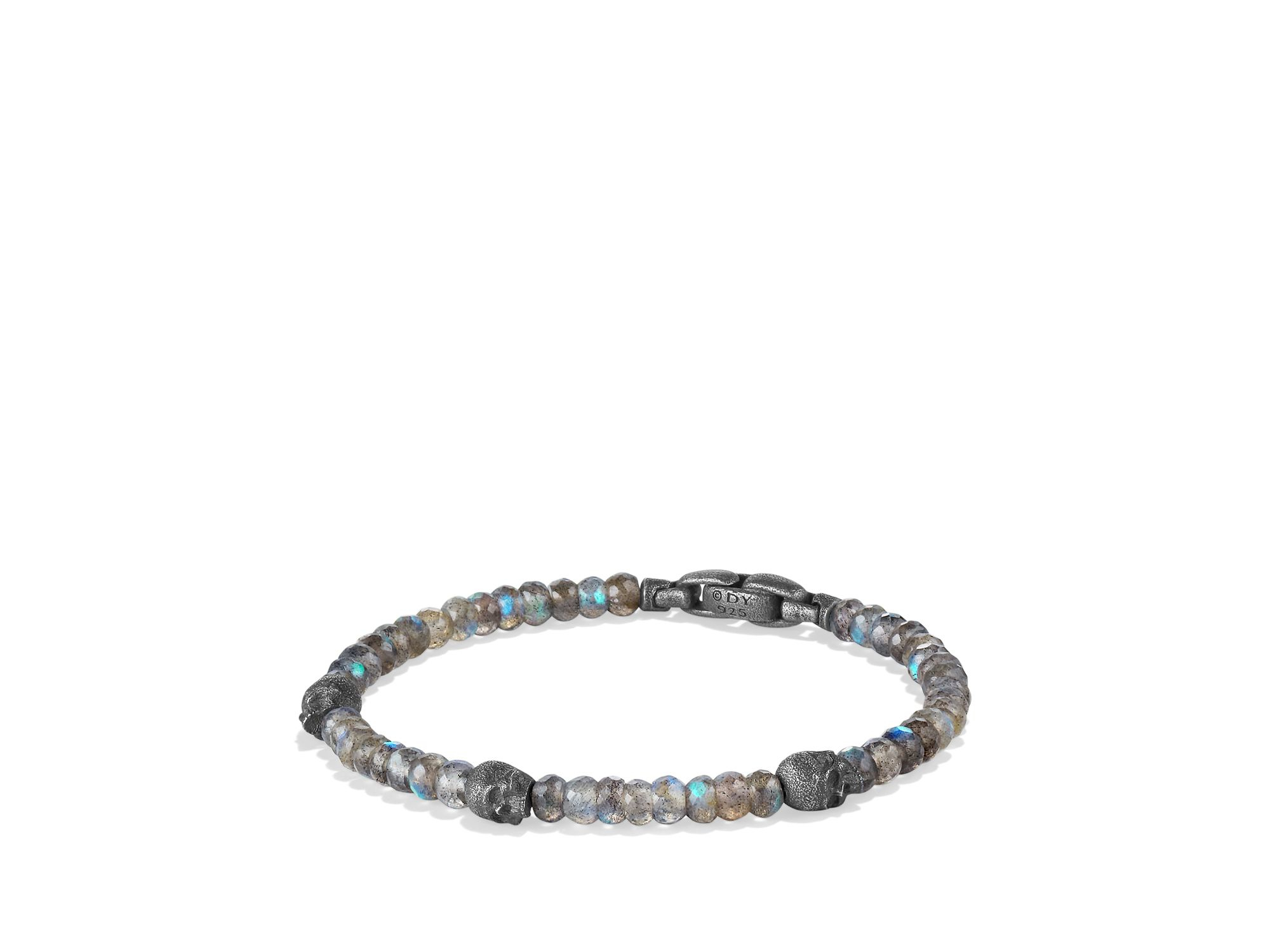 David Yurman Spiritual Beads Skull Station Bracelet In