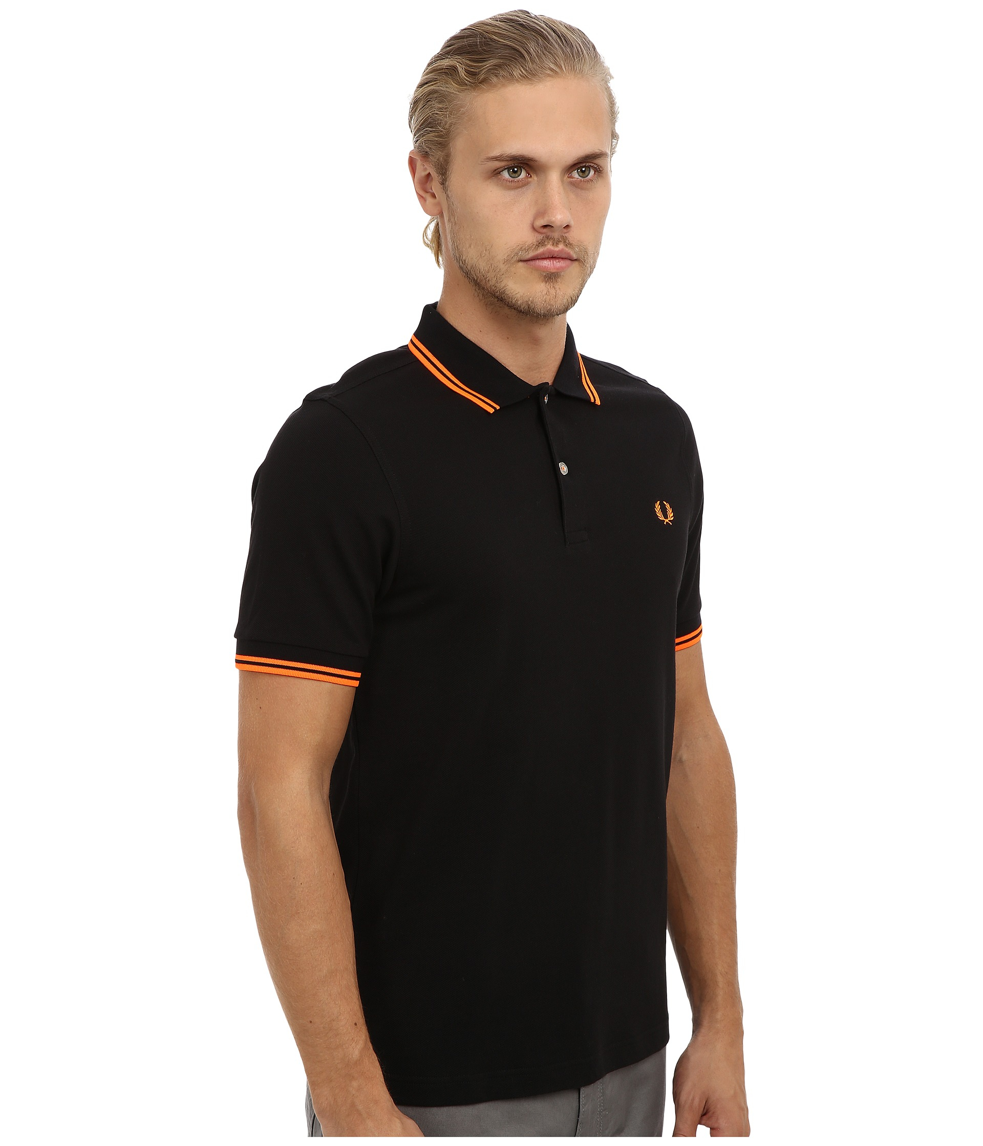 5c488d387d5 Lyst - Fred Perry Soho Neon Tipped Polo in Black for Men