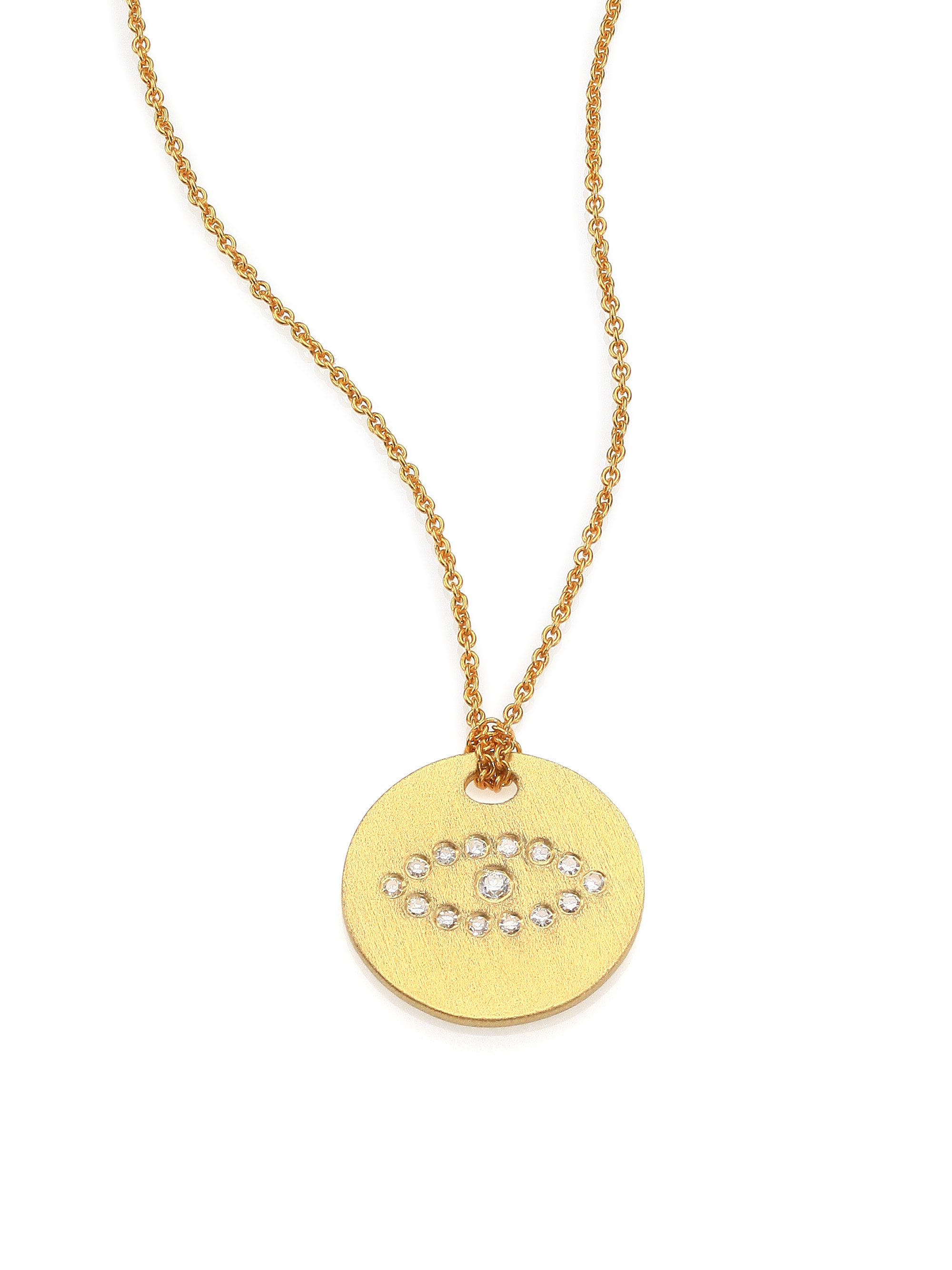 roberto coin tiny treasures 18k yellow gold evil